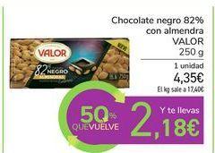 Oferta de Chocolate negro 82% con almendra VALOR por 4,35€