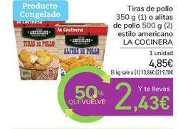 Oferta de Tiras de pollo o alitas de pollo estilo americano LA COCINERA por 4,85€
