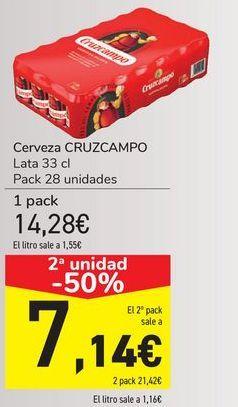 Oferta de Cerveza CRUZCAMPO por 14,28€