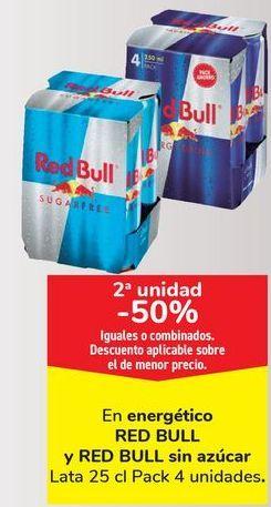 Oferta de En energético RED BULL y RED BULL sin azúcar  por