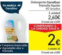 Oferta de Detergente Carrefour Marsella líquido  por 2,6€