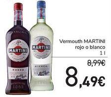 Oferta de Vermouth Martini Rojo o blanco  por 8,49€