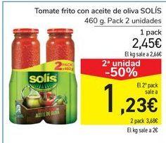 Oferta de Tomate frito con aceite de oliva SOLÍS por 2,45€