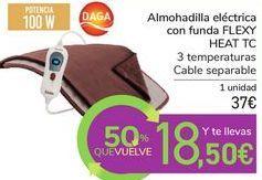Oferta de Almohadilla eléctrica con funda FLEXY HEAT TC por 37€