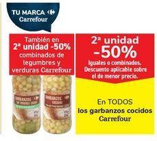Oferta de En TODOS los garbanzos cocidos Carrefour por