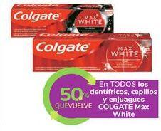 Oferta de En TODOS los dentífricos, cepillos y enjuagues COLGATE Max White por