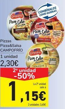 Oferta de Pizzas Pizza&Salsa CAMPOFRÍO por 2,3€