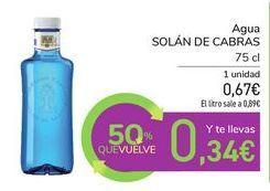 Oferta de Agua SOLAN DE CABRAS por 0,67€