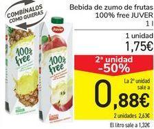 Oferta de Bebida de zumo de frutas 100% free JUVER  por 1,75€
