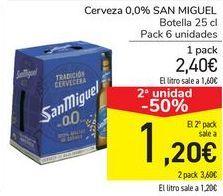 Oferta de Cerveza 0,0% SAN MIGUEL  por 2,4€
