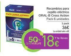 Oferta de Recambios para cepillo eléctrico ORAL-B Cross Action por 36€