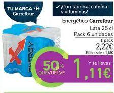 Oferta de Energético Carrefour por 2,22€
