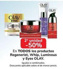 Oferta de En TODOS los productos Regererist, Whip, Luminous y Eyes Olay por