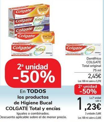 Oferta de En TODOS los productos de Higiene Bucal COLGATE Total y encías por