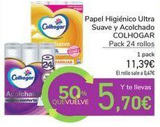 Oferta de Papel Higiénico Ultra Suave y Acolchado COLHOGAR por 11,39€