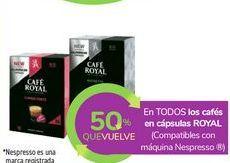 Oferta de En TODOS los cafés en cápsulas ROYAL por