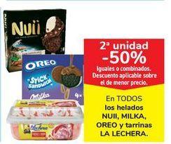 Oferta de En TODOS los helados NUII, MILKA, OREO y tarrinas LA LECHERA por