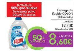 Oferta de Detergente líquido COLON por 17,2€