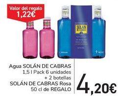 Oferta de Agua SOLÁN DE CABRAS por 4,2€