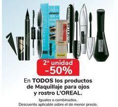 Oferta de En TODOS los productos de Maquillaje para ojos y rostros L'OREAL por