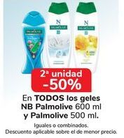 Oferta de En TODOS los geles NB Palmolive y Palmolive, iguales o combinados  por