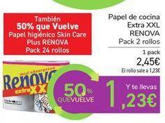 Oferta de Papel de cocina Extra XXL RENOVA por 2,45€