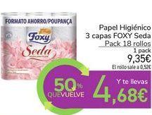 Oferta de Papel higiénico 3 capas FOXY Seda por 9,35€