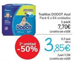 Oferta de Toallitas DODOT Azul  por 7,7€