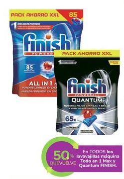 Oferta de En TODOS los lavavajillas máquina Todo en 1 Max y Quantum FINISH por