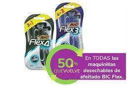 Oferta de En TODAS las maquinillas desechables de afeitado BIC Flex por
