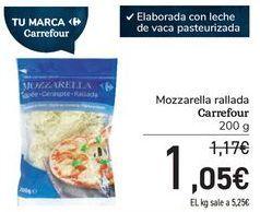 Oferta de Mozzarella rallada Carrefour por 1,05€