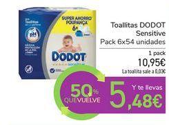Oferta de Toallitas DODOT Sensitive por 10,95€