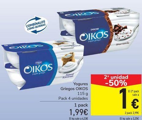 Oferta de Yogures Griefo OIKOS  por 1,99€