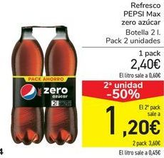 Oferta de Refresco PEPSI Max Zero azúcar  por 2,4€