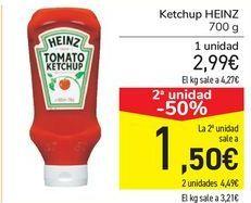Oferta de Ketchup HEINZ por 2,99€