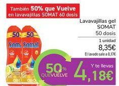 Oferta de Lavavajillas gel SOMAT por 8,35€
