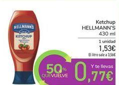 Oferta de Ketchup HELLMANN'S por 1,53€