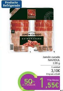 Oferta de Jamón curado NAVIDUL por 3,1€