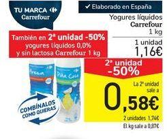 Oferta de Yogures líquido Carrefour  por 1,16€