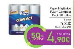 Oferta de Papel Higiénico FOXY Compact por 9,8€
