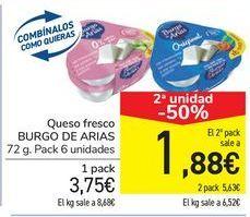 Oferta de Queso fresco BURGO DE ARIAS por 3,75€