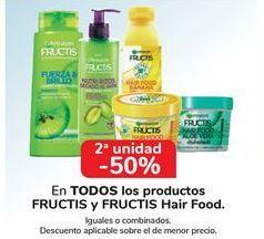 Oferta de En TODOS los productos FRUCTIS y FRUCTIS Hair Food  por