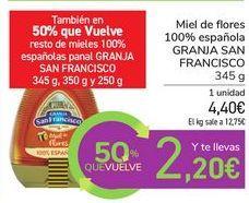 Oferta de Miel de flores 100% española GRANJA SAN FRANCISCO  por 4,4€
