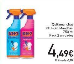 Oferta de Quitamanchas KH7-Sin manchas  por 4,49€