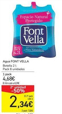 Oferta de Agua FONT VELLA  por 4,68€