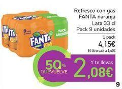 Oferta de Refresco con gas FANTA naranja por 4,15€
