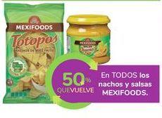 Oferta de En TODOS los nachos y salsas MEXIFOODS por