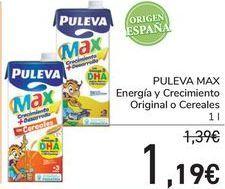 Oferta de PULEVA MAX Energía y Crecimiento Original o Cereal  por 1,19€