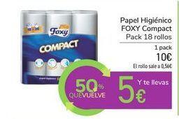 Oferta de Papel Higiénico FOXY Compact por 10€