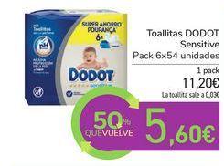 Oferta de Toallitas DODOT Sensitive por 11,2€